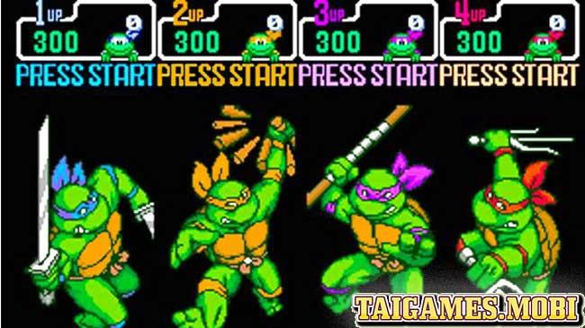 4 anh em ninja rua trong game ninja rua Teenage Mutant Ninja Turtles
