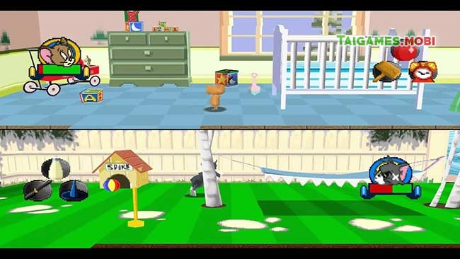 gameplay trong game tom and jerry ps1