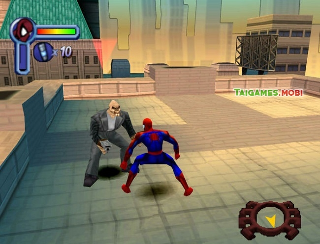 gameplay dieu khien nguoi nhen trong game spiderman