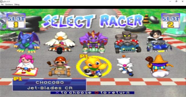 cac nhan vat trong game dua xe thu chocobo racing