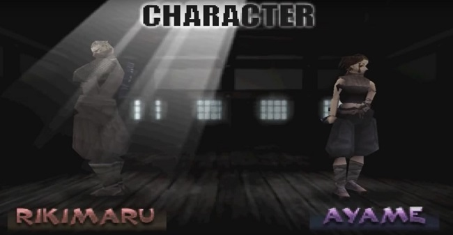 lua chon cac nhan vat trong game tenchu PS1