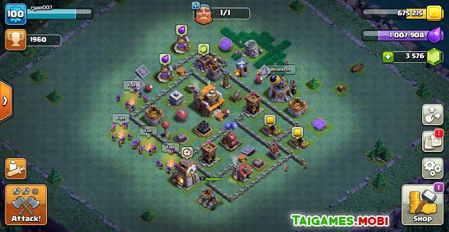 cong trinh xay dung trong game clash of clans