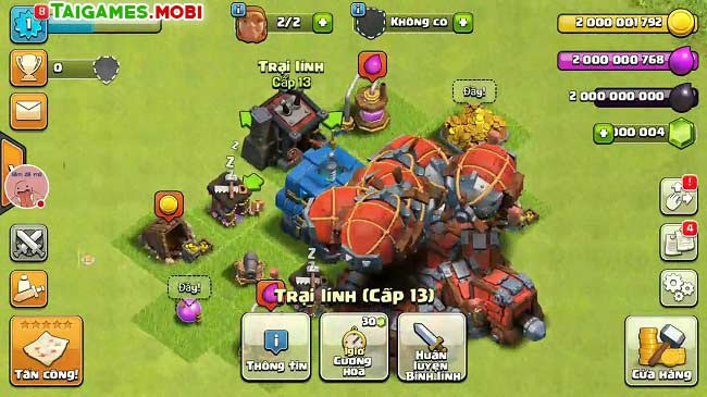 phien ban game clash of clans tren may tinh