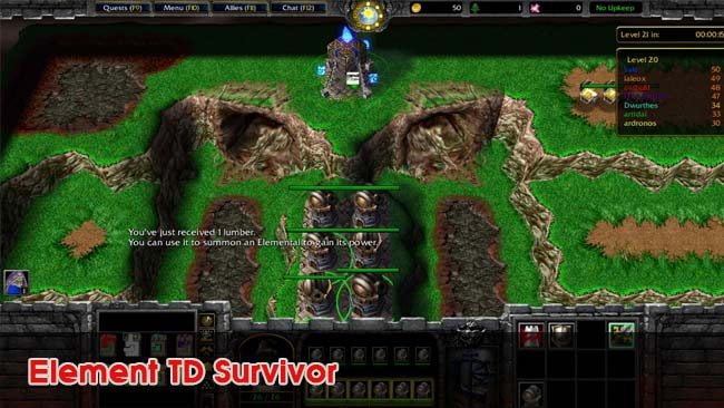 Element-TD-Survivor-custom-map-hay-danh-voi-may