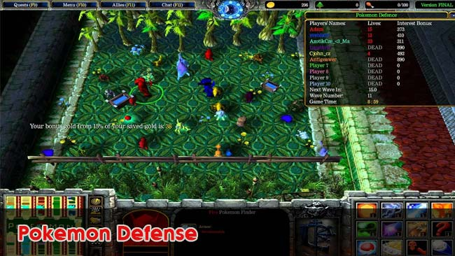 Pokemon-Defense-custom-map-hay-danh-voi-may