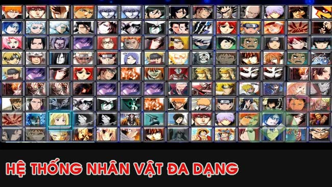 he-thong-nhan-vat-game-bleach-vs-naruto-mien-phi