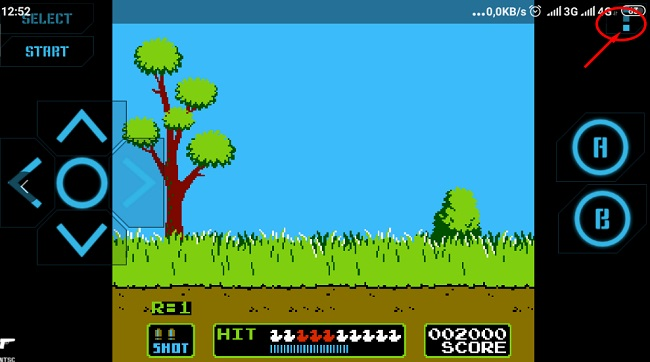 game setting tren ung dung choi duck hunt